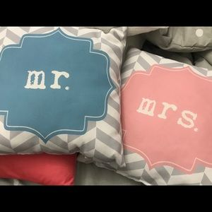 Other - Set of 2 Pillows: Mr & Mrs